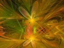 Fractal abstract patroon, mooie de krulbloem van het ornament grafische mandewerk creatieve kleurrijke gevoelige reclame Stock Fotografie