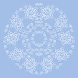 Fractal abstract spiral shape background. Vector illustration Royalty Free Stock Photography