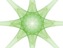 Fractal abstract - star. Set on a white background Royalty Free Stock Photo