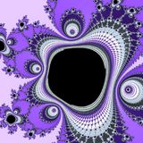 Fractal in abstract style. Abstract blue technology background. Futuristic shape. Modern design. Apple pattern. Ultra violet backg. Fractal in abstract style royalty free illustration