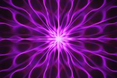 Fractal with abstract, wavy rays radiating from the center in pink Royalty Free Stock Images