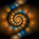 Fractal abstracte spiraal royalty-vrije illustratie