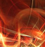 Fractal abstraction. Red glowing blur abstraction, black background.  royalty free illustration
