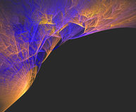 Fractal abstraction thunder and lightning Royalty Free Stock Photo