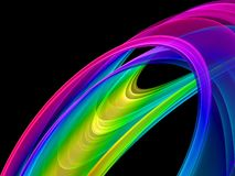 fractal abstracto colorido 3D Foto de archivo libre de regalías
