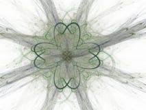 Fractal abstracto con el estampado de flores verde Fotografía de archivo