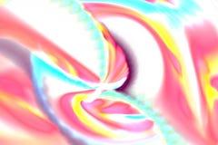 Fractal abstracto con las curvas borrosas caóticas en blanco Foto de archivo libre de regalías