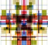 Fractal abstracto de la mosca del color de la tecnología Stock de ilustración