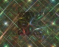 Fractal abstracto, ornamento mágico de la imaginación del diseño de la elegancia de la fantasía de la imaginación brillante del f ilustración del vector
