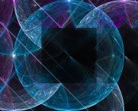 Fractal abstracto, ornamento mágico vibrante de la imaginación del diseño de la elegancia de la fantasía de la imaginación b ilustración del vector