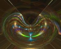 Fractal abstracto, ornamento mágico vibrante de la imaginación del diseño de la elegancia de la fantasía del remolino futurista d ilustración del vector