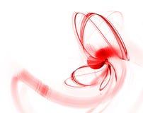 Fractal abstracto rojo Imagen de archivo