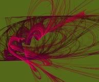 Fractal abstrakcja dymni serca royalty ilustracja