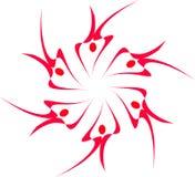 fractal abstrakcjonistyczne pływaczki Obrazy Royalty Free