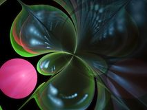 Fractal fractal abstrakcjonistycznego abstrakcjonistycznego kwiatu cyfrowy skład, tajemniczy Obrazy Stock