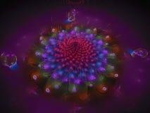 fractal abstrakcjonistycznego kwiatu piękny okwitnięcie unikalny Zdjęcia Royalty Free