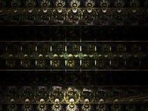 Fractal fractal abstrakcjonistycznego abstrakcjonistycznego szablonu wibrujący cyfrowy skład, tajemniczy Obrazy Royalty Free