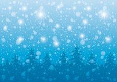 fractal abstrakcyjna nocy obrazu zima ilustracji