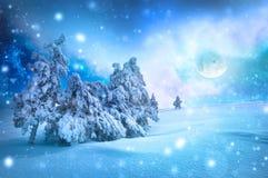 fractal abstrakcyjna nocy obrazu zima Fotografia Stock