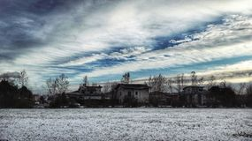 fractal abstrakcyjna obraz nieba zima Obraz Royalty Free