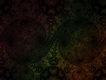Fractal abstrakta wzoru kędzioru vesicle spirala delikatna wytwarza artisticbubble Obraz Stock