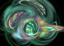 fractal Abstraktes Hintergrundelement Stockbild