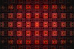 Fractal abstrato da tecnologia com quadrados alaranjados de incandescência fotografia de stock