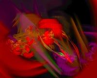 Fractal abstrato de Digitas, elegância bonita do projeto do molde original futuro fantástico brilhante, redemoinho, futuro imagem de stock royalty free