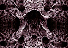 Fractal abstrato escuro imagens de stock