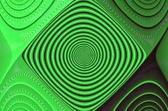 Fractal abstrato verde de Digitas da ilusão ótica imagem de stock