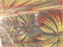 Fractal achtergrond, abstracte illustratie Stock Foto's