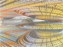Fractal achtergrond, abstracte illustratie Royalty-vrije Stock Foto's