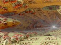 Fractal achtergrond, abstracte illustratie Stock Fotografie