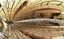 Fractal achtergrond, de stad van de toekomst Stock Fotografie
