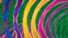 Fractal achtergrond met abstract snel weggeknipt lint Hoog gedetailleerde lijn stock footage