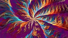 Fractal achtergrond met abstracte heldere spiraal Hoog gedetailleerde lijn stock footage