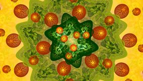 Fractal achtergrond met samenvatting cellsshapes Hoog Gedetailleerd stock videobeelden