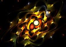 Fractal amarelo de incandescência Foto de Stock Royalty Free