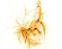 Fractal anaranjado aislado Foto de archivo