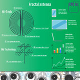 Fractal Antenna. Hi-Tech infographic. Fractal technology. Vector Illustration Royalty Free Stock Photo