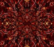 Fractal art. Unique dark red and orange colored fractal art Royalty Free Stock Image