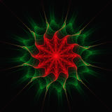Fractal art. Fractal abstract art of flame with shapes and colors like a parasite flower Stock Images