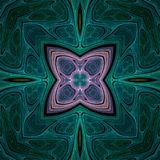 Fractal art design. Abstract crazy symmetrical design in fractal art style Stock Photos