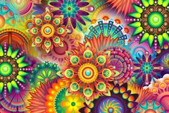 Fractal Art, Psychedelic Art, Pattern, Art stock photo