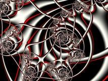 Fractal artwork for creative design. Red and gray. vector illustration
