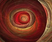 Fractal astral fire tunnel. Computer-generated stock illustration