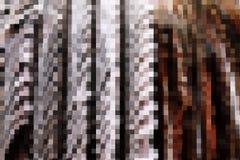 Fractal av den bruna mosaiken Arkivbild