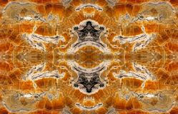 Fractal av det bruna gemstoneslutet upp Fotografering för Bildbyråer