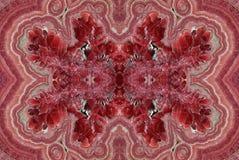 Fractal av det rosa röda Rhodochrositestenslutet upp Arkivfoton