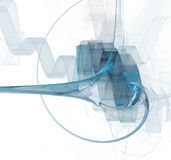 Fractal azul ilustração stock